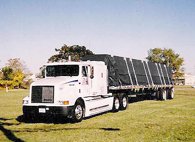 Lumber Tarp - 6' Drop, 20' x 27' Vinyl for Flatbed Trailers