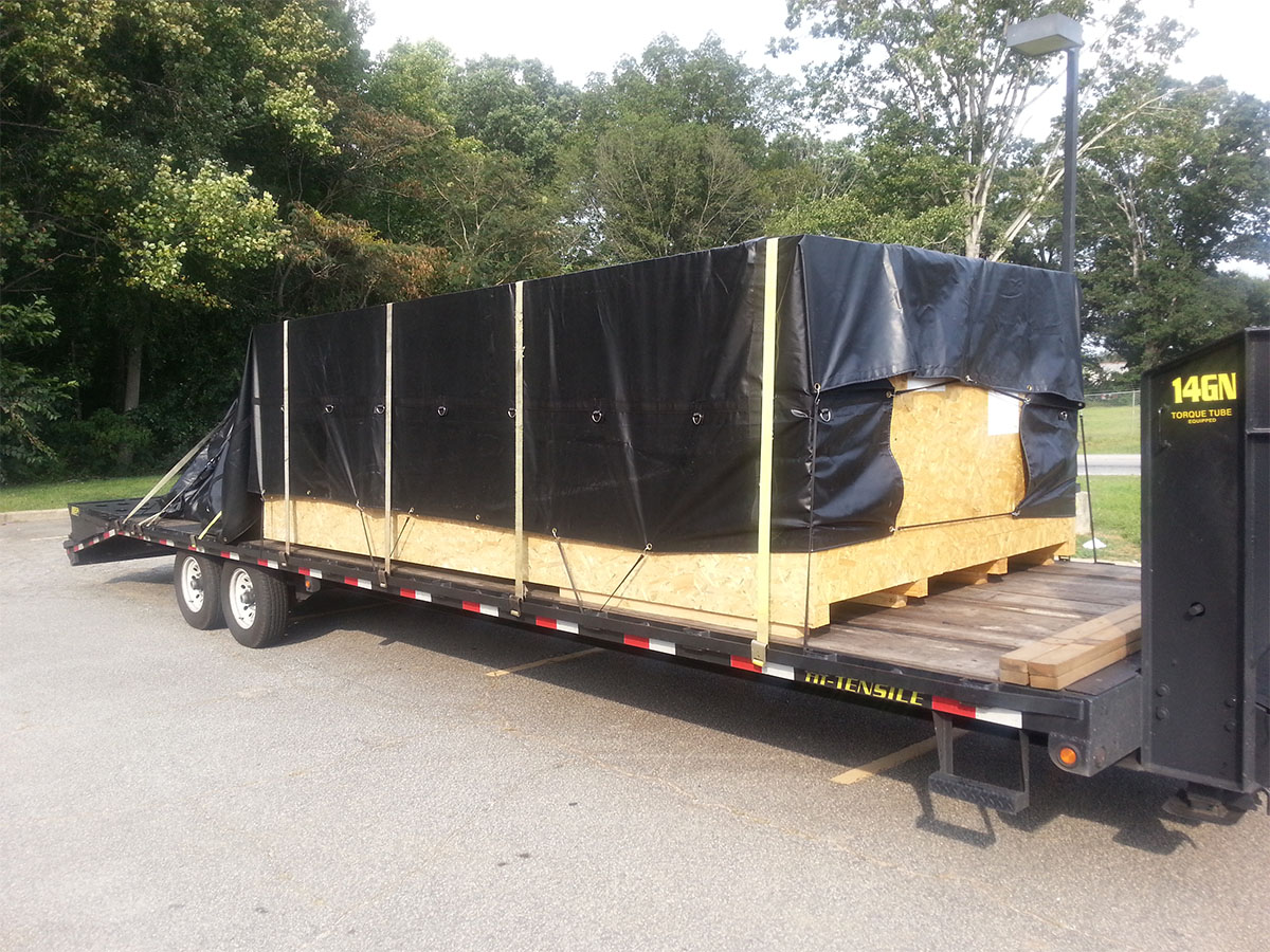 Steel Tarp 4' Drop, 16' x 27' for Flatbed Trailers