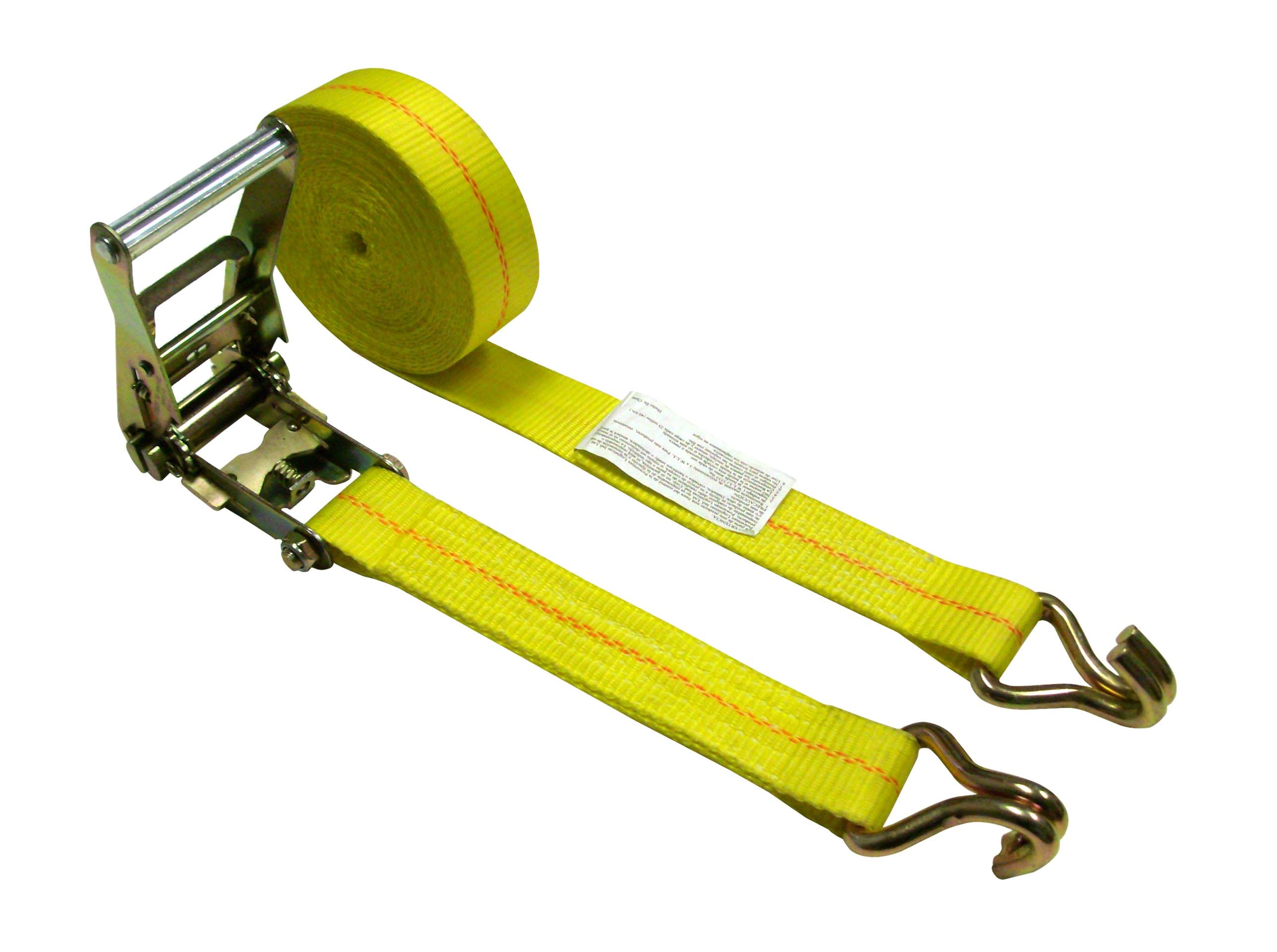 "2"" x 30 Ratchet Strap w/ Double J Wire Hooks"