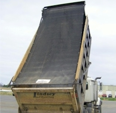 "7 6"" x 14 Heavy Duty Mesh Dump Truck Tarp w/ Side and Tail Flaps"