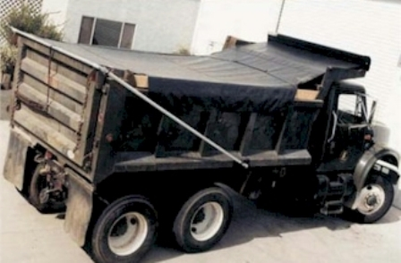 8 x 26 Hot Top (RFL) Asphalt Tarp with Side Flaps