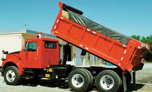 "7 6"" x 20 Hot Top (RFL) Asphalt Tarp with Side and Tail Flaps"