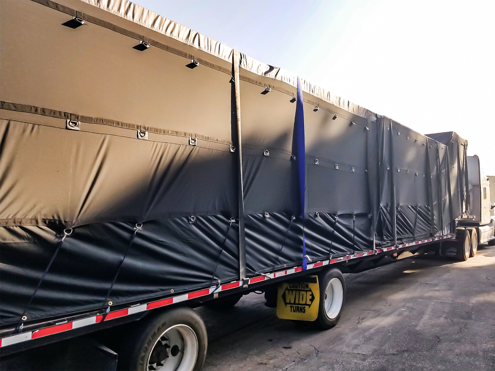 Lightweight Flatbed Tarp - 6 Drop 20 x 27 with Rain Flaps (ONE YEAR WARRANTY)