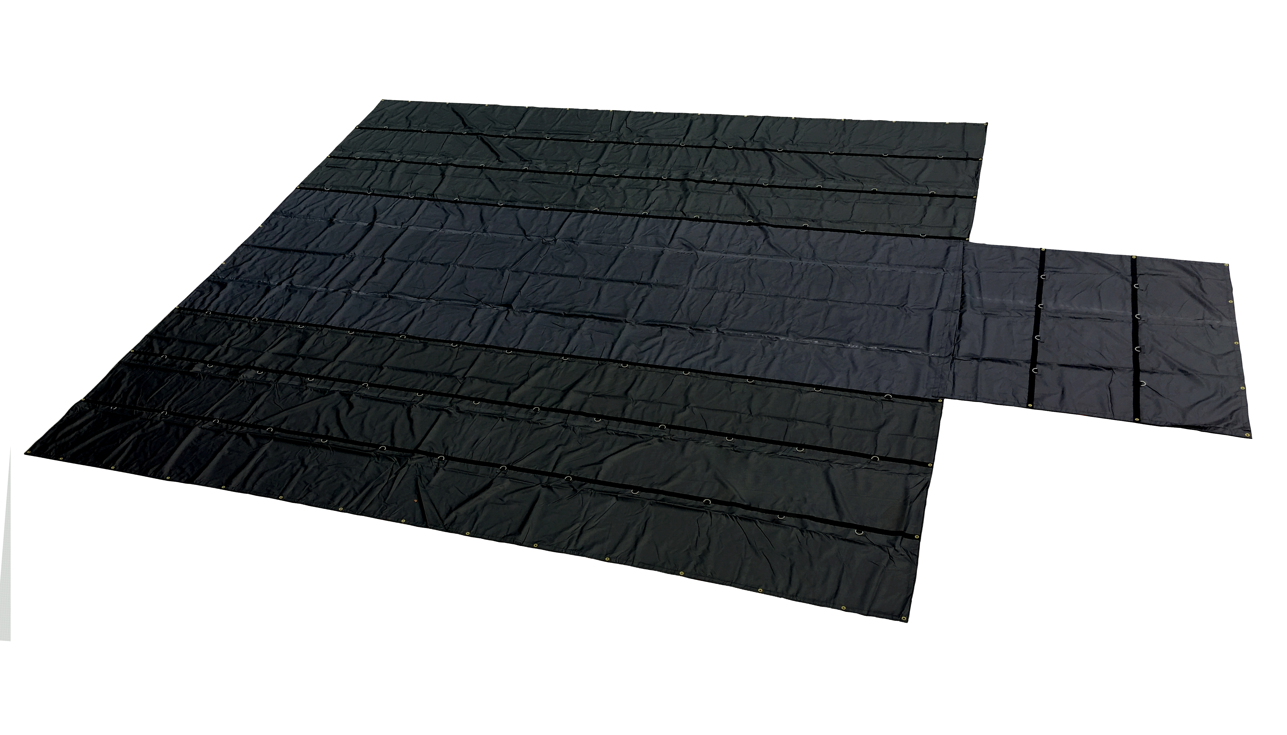 Lightweight Flatbed Tarp - 8' Drop 24' x 27' (30% Lighter than Standard) (OUT OF STOCK)