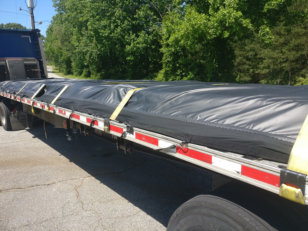Lightweight Steel Tarp - 4 Drop Flatbed Tarp 16 x 27