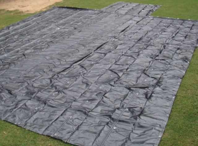 Lumber Tarp Spread Out, Measuring 24
