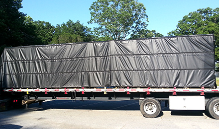 8' Drop Lumber Tarps, 24'x27' Heavy Duty Vinyl