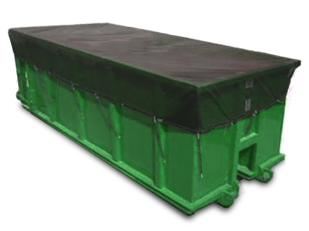 Mesh Hand Tarps for Dumpsters and Roll Off Containers