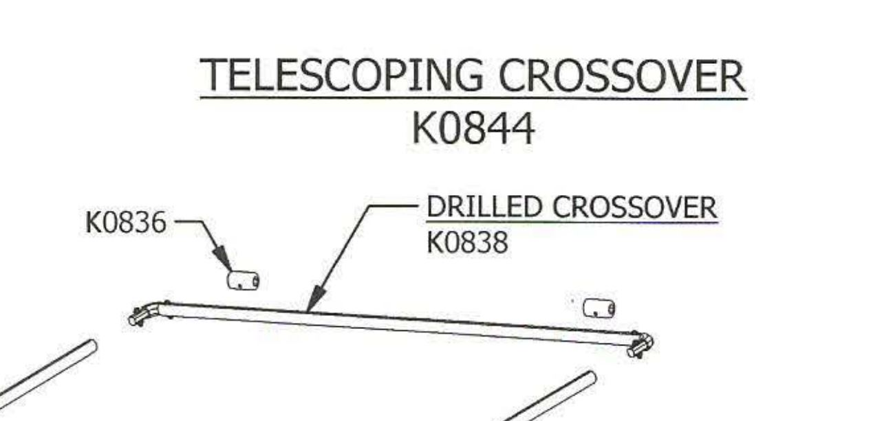 Mountain K0844 5-piece Crossover Bar Kit for Telescoping Tarp Systems