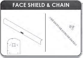 "Mountain K0704 Extruded Face Shield 102"", Standard Smooth (Face Shield Only)"