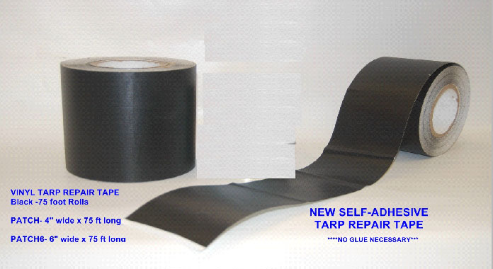 6 Vinyl Tarp Repair Tape (75ft Roll) (TEMPORARILY OUT OF STOCK)