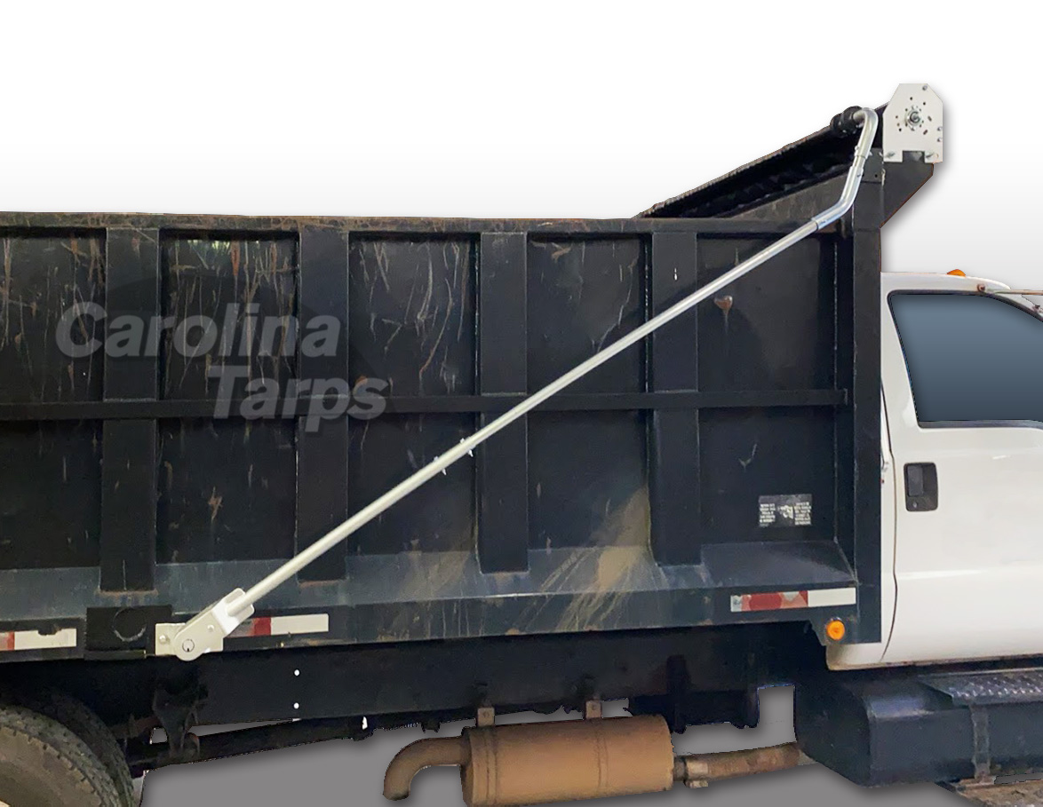Dump Truck Tarp System - Electric STEEL 4 Spring Tarp Kit for Beds Up to 20' (Width 95 and Over)