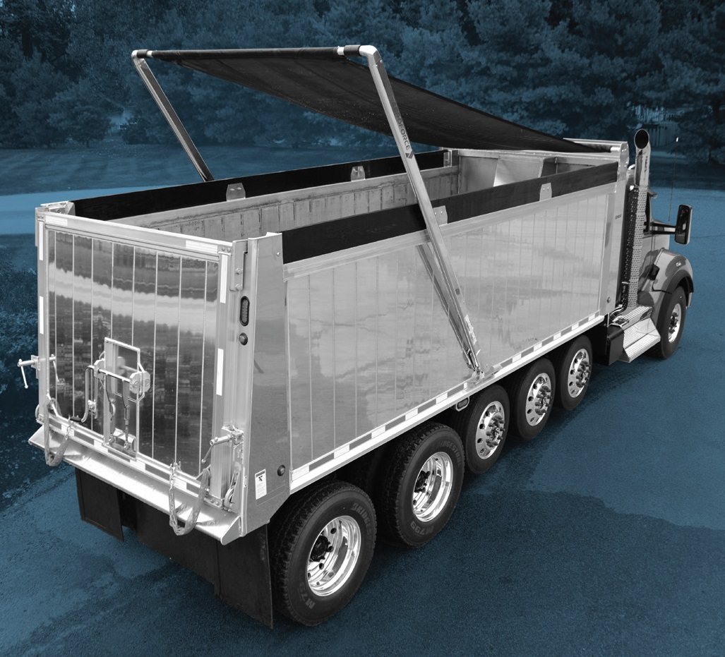 "AeroForce 2-Spring Electric Front-to-Back Tarp System for Dump Trailers 102"" wide, 41 - 45 long"