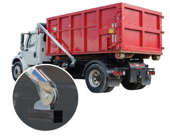 AeroForce AF825 ROC Tarp System for Roll-off Containers 20 to 27, w/ Fixed Pivot, Adjustable Gantry