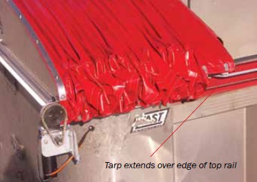 Mountain TNGD32NB 18oz. Vinyl Replacement Tarp for Tarp N Go Side-Drop Cable System w/ Power Bow for Containers 32 long (Tarp Only)
