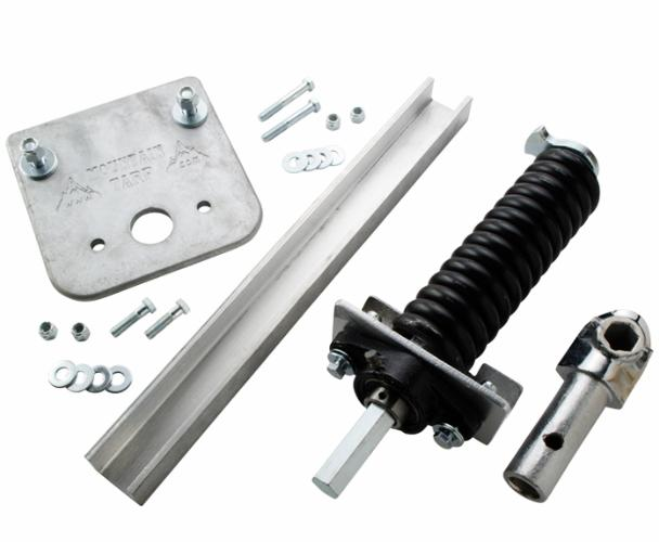 Mountain K0209 Hex Chrome Under-the-Rail Underbody Assembly with Arm Connector Plug and Drop Plate, Passenger Side