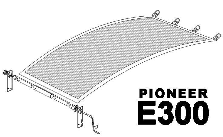 Pioneer E300 Deluxe Construction Tarping System - 12' to 15'