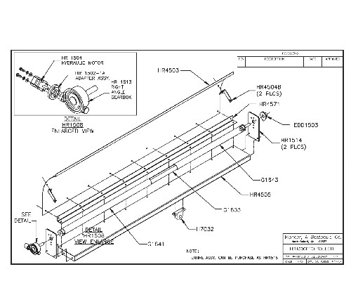 Roller Assembly for Pioneer Econocover HR1500PTO and HR1500PTOAL