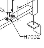 Pioneer H7032 Clevis Eye Pad for HR4511 Gantry Assembly