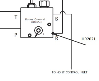 Pioneer HR 2021 Adapter used for Strong Arm Tarping System