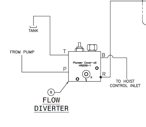 Pioneer HR2055-15 Flow Diverter for Econocover Tarping Systems