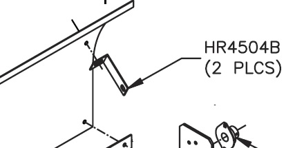 HR4504B Windscreen Support Angle for use in Roller Assembly