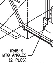 Pioneer HR4519 Chassis Mounting Angle for Strong Arm  Tarping Systems